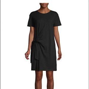 Vince Side-Tie Black T-Shirt Dress